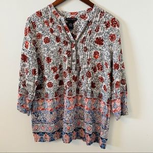Chelsea & Theodore XL Floral Paisley Tunic Top